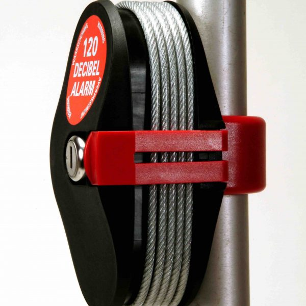 Lock Alarm on pole